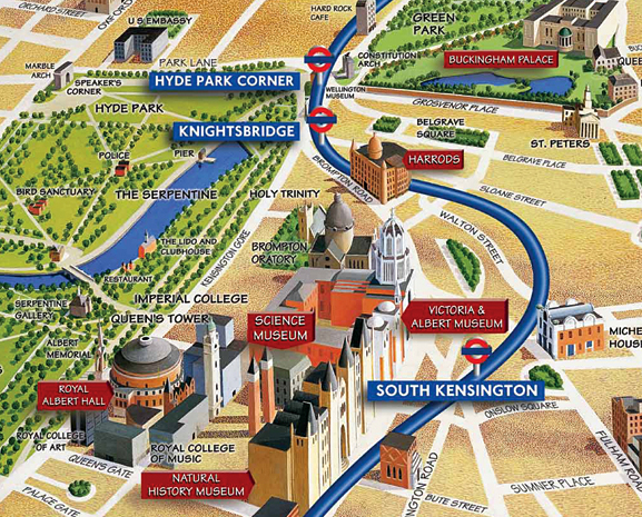 And one more great moment – Map of London Landmarks
