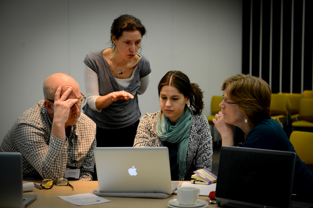 'Successful infographics', full day workshop, news:rewired, February 2015. Photo credit: Mark Hakansson